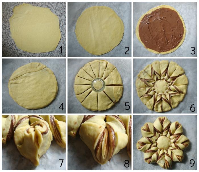 nutella-ster-brioche-brood