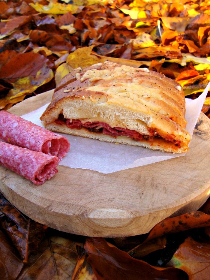 salami pizza vlechtbrood