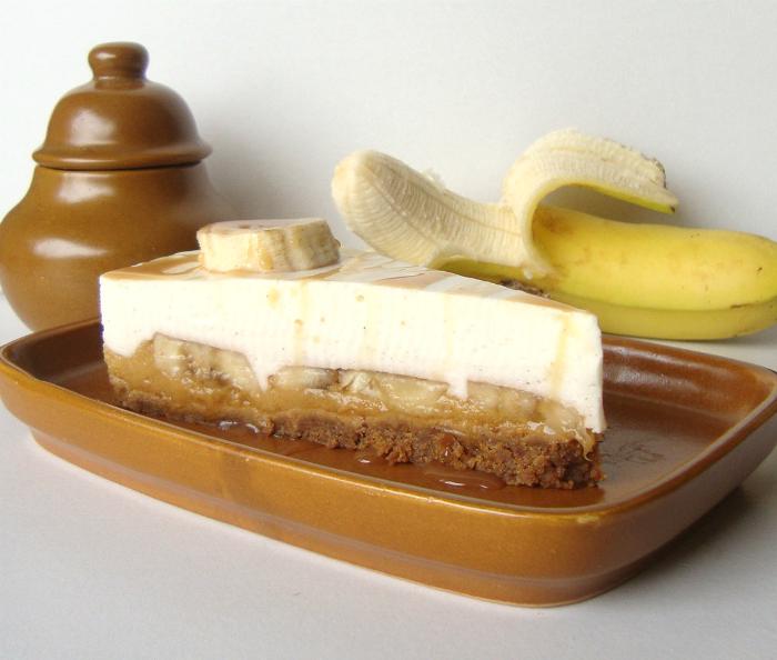 Banaan karamel kwarktaart
