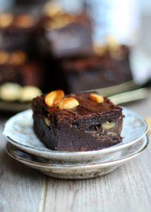 Brownies met pindakaas