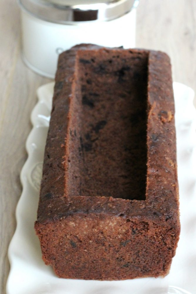 chocoladecake uithollen