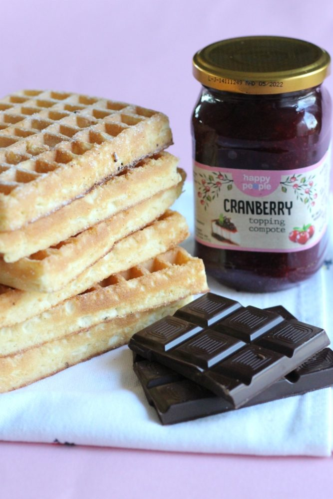 cranberry chocolade wafels ingredienten