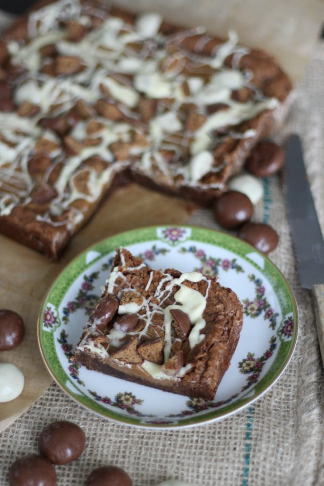 Brownies met speculoos en chocolade kruidnoten