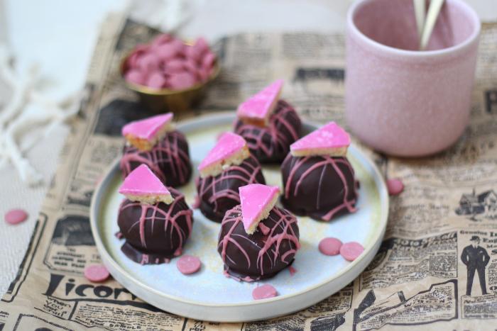roze koek bonbons
